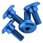 1UP Racing 3 x 6mm Aluminum Servo Mounting Screws w/4.2mm Neck (Blue) (4)