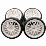 "Gravity RC G-SPEC Type C ""Carpet"" Pre-Mounted Touring Car Rubber Tires (4)"