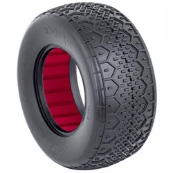 AKA Deja Vu Wide Short Course Tires w/Red Insert (2).