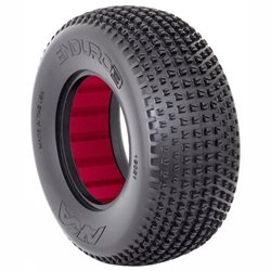 AKA Enduro 3 Wide Short Course Tires w/Red Insert (2).