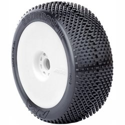 AKA Racing Grid Iron II 1/8 Pre-mounted Buggy Tires (2).