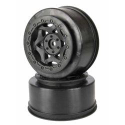 AKA Cyclone Short Course Wheels (SC-10 Rear Pin-Drive) (Black) (2)