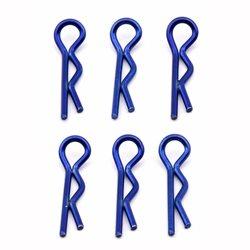 Team Associated Factory Team Short Body Clips (metallic blue) (6)