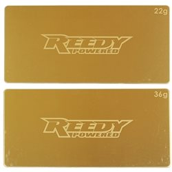 Reedy LiPo Battery Brass Weight Plate Set