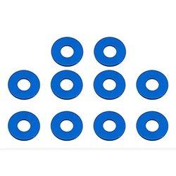 Team Associated 7.8 x 0.5mm Aluminum Bulkhead Washer (Blue) (10)