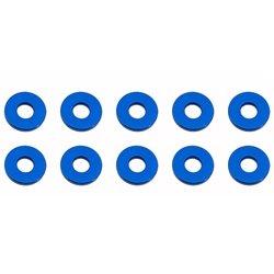 Team Associated 7.8 x 1.0mm Aluminum Bulkhead Ball Stud Washer (Blue) (10)
