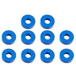 Team Associated 7.8 x 2.0mm Aluminum Bulkhead Washer (Blue) (10)