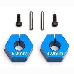 Team Associated Factory Team Clamping Wheels Hexes, 6.0mm (2)