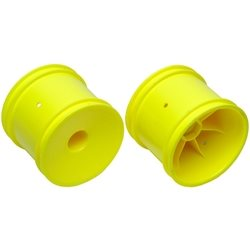Team Associated 12mm Hex Stadium Truck Wheel (2) (Yellow)