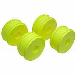 Team Associated 83mm 1/8 Buggy Wheels (4) Neon Yellow