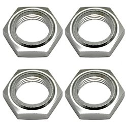 Team Associated Nyloc Wheel Nut (Silver) (4)