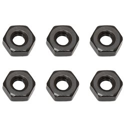 Team Associated M3 Nut (Black) (6)