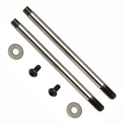 Team Associated Factory Team 3 x 27.5mm V2 Chrome Shock Shafts (2)