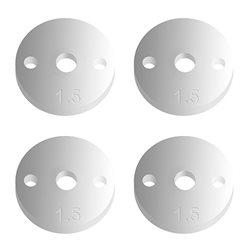Team Associated Factory Team 12mm Pistons (2x1.5mm/Flat) (4)