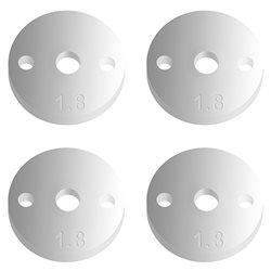 Team Associated Factory Team 12mm Pistons (2x1.8mm/Flat) (4)