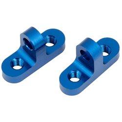 Team Associated B6 Aluminum Servo Mounts (blue)