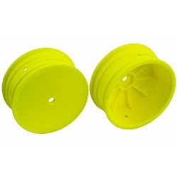 Team Associated 2.2 4WD Front Buggy Wheels (2) (B64) (Yellow) (12mm Hex)