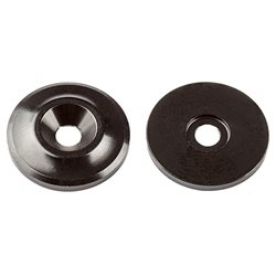 Team Associated Factory Team Aluminum Wing Buttons (Black) (2)
