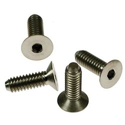 CRC 8-32 Titanium Flat Head Hex Screws (4).