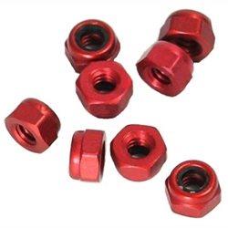 CRC 2-56 Red Aluminum Mini Locknuts (8).