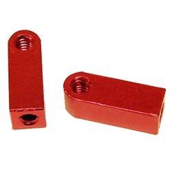 CRC Flat Aluminum Servo Mounts (Red) (2)