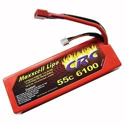CRC Maxxcell 2S 7.4 Volt 6100 Mah 55C LiPo Battery w/Deans
