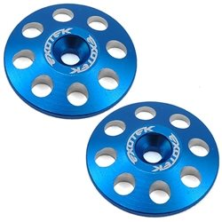 Exotek 22mm 1/8 XL Aluminum Wing Buttons (2) (Blue).