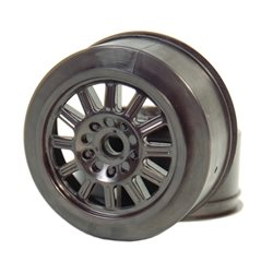 JConcepts Rulux Short Course Wheels Black (2) (SC10 Front) (Not Hex).