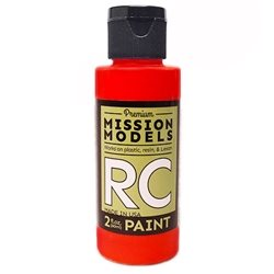 Mission Models Fluoresent Racing Red Acrylic Paint (2oz)