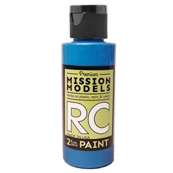 Mission Models Fluoresent Racing Blue Acrylic Paint (2oz)