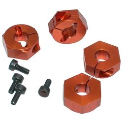 Serpent Aluminum Wheel Hexagon (Orange) (4)