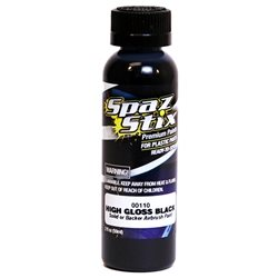 Spaz Stix High Gloss Black / Backer Airbrush Paint (2oz).
