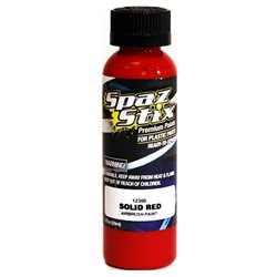 Spaz Stix Solid Red Airbrush Paint (2oz)