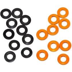XRAY 3x6x0.5mm Aluminum Shim (Black/Orange) (10).