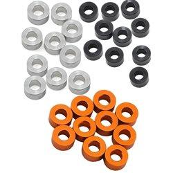 XRAY 3x6x3.0mm Alloy Shims (Silver/Black/Orange) (10).