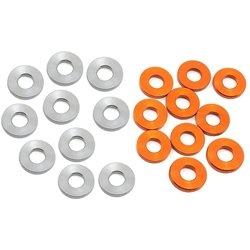 XRAY 3x7x1.0mm Alloy Shims (Silver/Orange) (10).