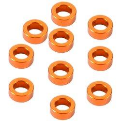 XRAY Alloy Shim (3 x 5 x 2.0mm) (Orange) (10)