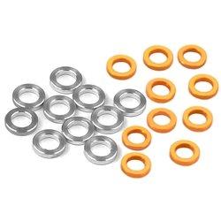 XRAY 3x5x1.0mm Alloy Shims (Silver/Orange) (10).