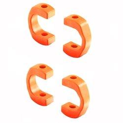 XRAY 3.5mm Composite Drive Shaft Caps (Orange) (4).