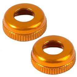XRAY Aluminum Lower Shock Cap (Orange) (2).